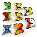Flashing Lamps LED Night Light Colorful Butterfly Novely ABS Home Decoration With Double-sided adhesive sticker Multicolor