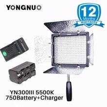 YONGNUO официальный Камера светодиодный свет YN300 III yn300-iii 5500 К cri95 W F750 Батарея для Canon Nikon, LED Панель для живой эфир