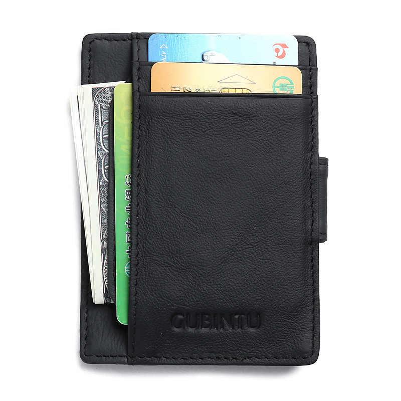 Импортные товары RFID карты пакет из натуральной кожи черный коричневый цветной магнит анти-магнитный Противоугонный кошелек Зажимы для денег Бесплатная доставка