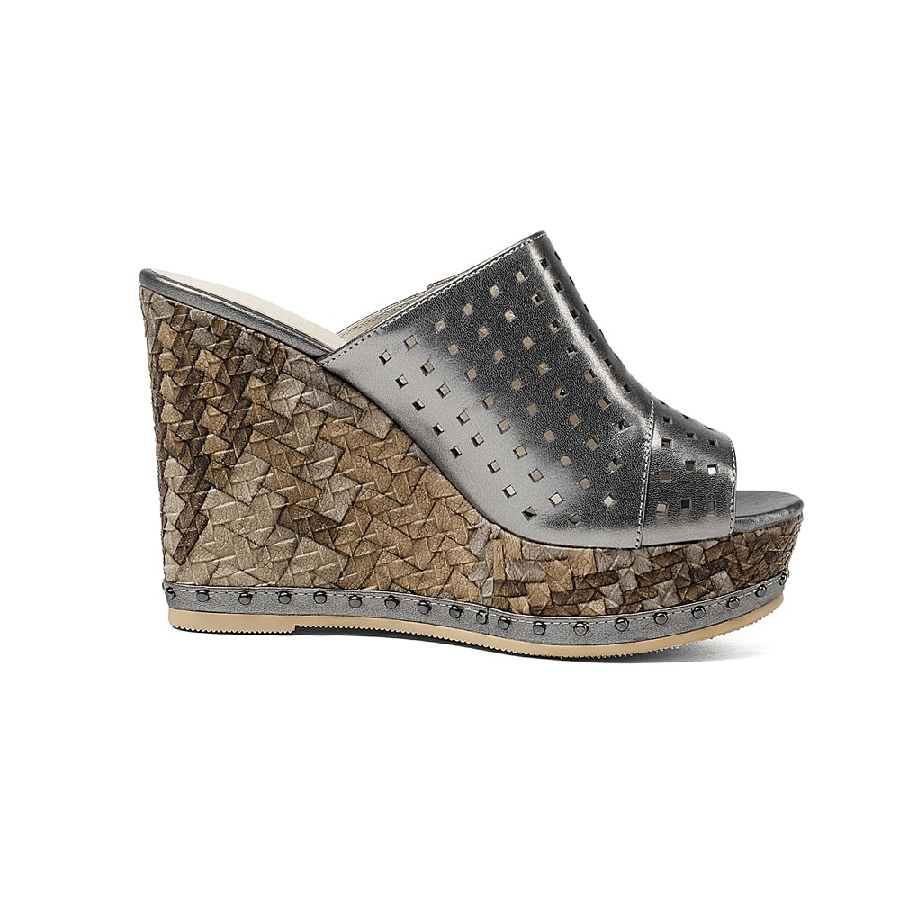 Asumer 2020 새로운 고품질 정품 가죽 여성 샌들 컷 아웃 웨지 하이힐 슬링 백 엿봄 발가락 여름 여성 신발-에서하이힐부터 신발 의  그룹 3