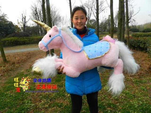 stuffed toy pink unicorn doll,large