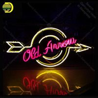 Neon Sign for Old Arrow neon Light Sign decorate Windower Store Display Beer Express Neon Light up wall sign Handicraft Store