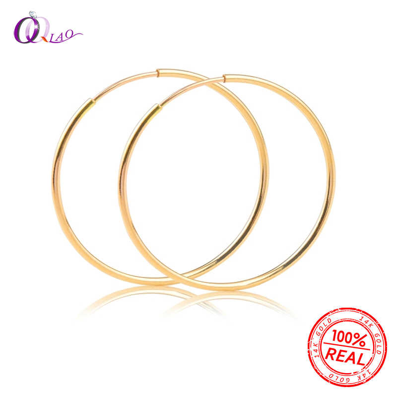A pair Fashion 14K gold filled Ear ring earring hooks for DIY 12/14/16/20/24/30/40/50/65MM earring jewelry findings Accessories