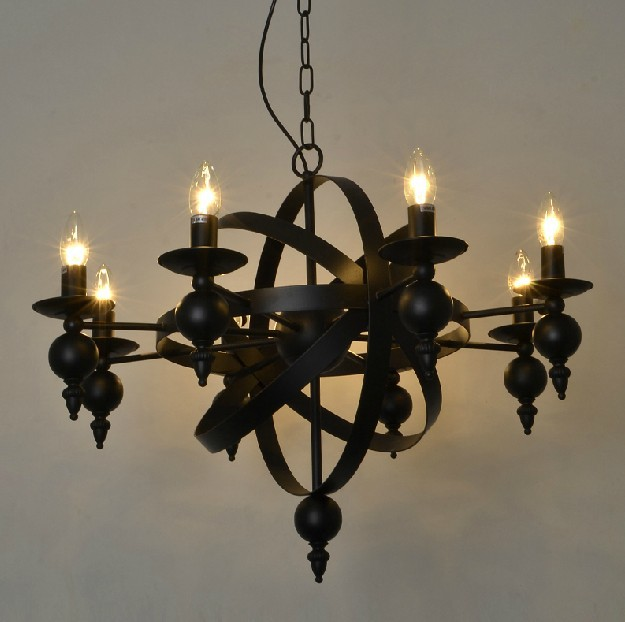 Industiral Pendant Lamp Chandelier Rural Idyll Antique Creative Vintage For Home Decor Wrought Iron Candle