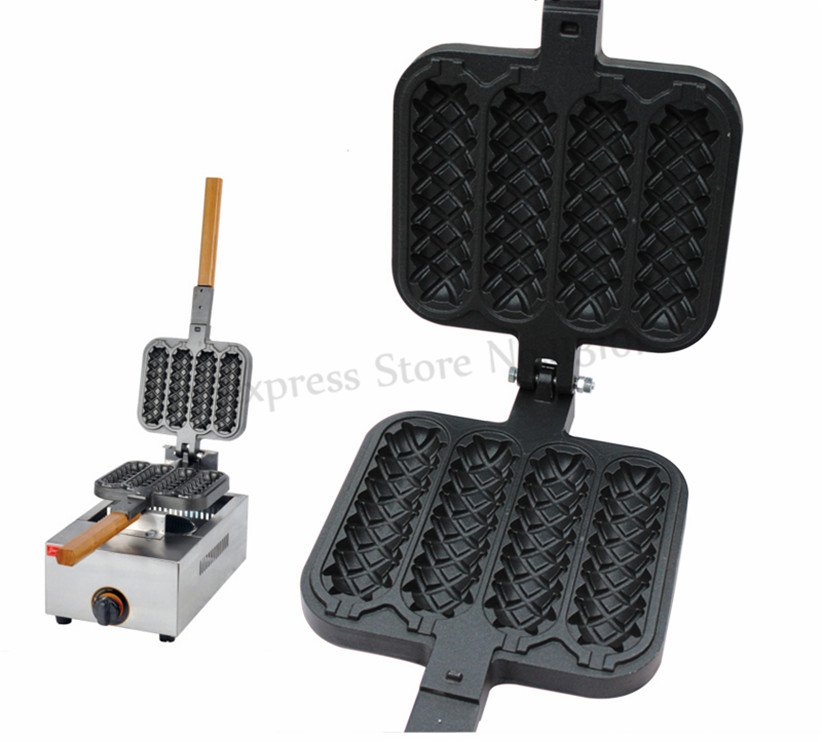 Stainless Steel Hot Dog Waffle Machine Gas Sausage Grill Maker Free Shipping free shipping new arrival waffle hot dog maker gas waffle stick maker lolly waffle machine grill