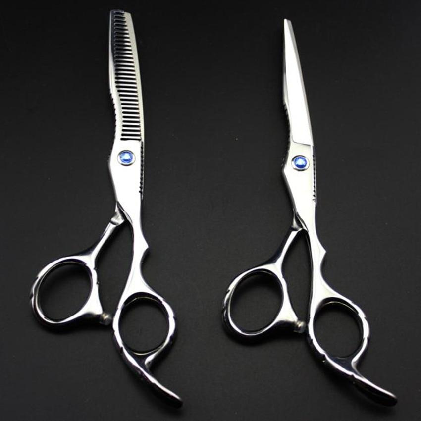 profesjonell 6 tommers 440c 6cr13 kutt hår saks sett skjære - Hårpleie og styling - Bilde 1