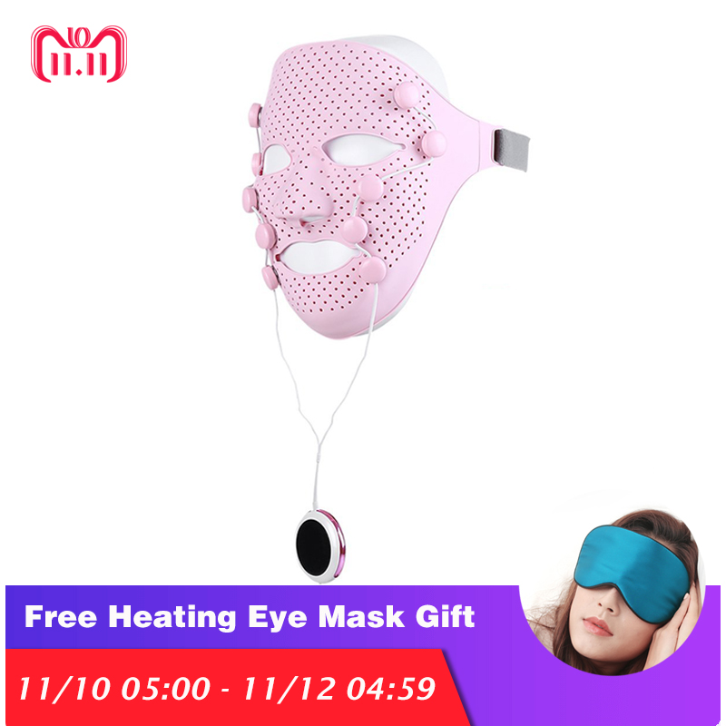 New Smart Silicone Facial Mask Magnetic Massager anti-aging Anti-Wrinkle Crow Feet remover Eye Toning Firm face mask tools