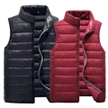 The winter of 2016 cotton vest male Eiderdown cotton vest Cultivate one's morality collar pure color leisure vest