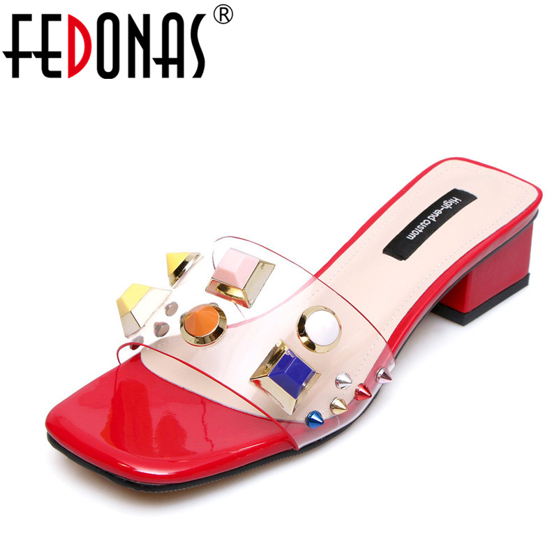 FEDONAS 2018 New Fashion High Heel Sandals Women