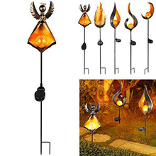 LED Solar Light Solar Flickering Flame Torch Light Waterproof Outdoor Garden Lamp Landscape Decoration Lawn Light waterproof led solar panel lawn simulation stone spotlights new year projector lamp outdoor garden landscape garland decoration