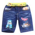 2014 cartoon planes kids jeans fashion summer short denim pants new boys jeans retail children's jeans