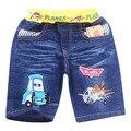 2014 dos desenhos animados planes crianças jeans da moda verão curto calças jeans novos jeans meninos varejo calças de brim das crianças