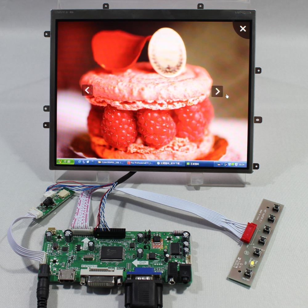HDMI VGA DVI Audio lcd controller board NT686769.7inch LTN097XL01 1024x768 Lcd screenHDMI VGA DVI Audio lcd controller board NT686769.7inch LTN097XL01 1024x768 Lcd screen