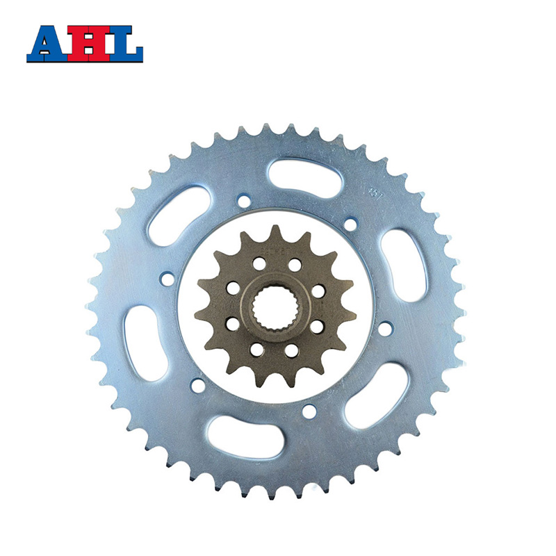 Racing Motorcycle Parts Front & rear Sprocket Star 45-15 Teeth For Yamaha XJR400 XJR 400 Sprockets Fit 520 Drive Chain jt sprockets jtr503 45 45t steel rear sprocket