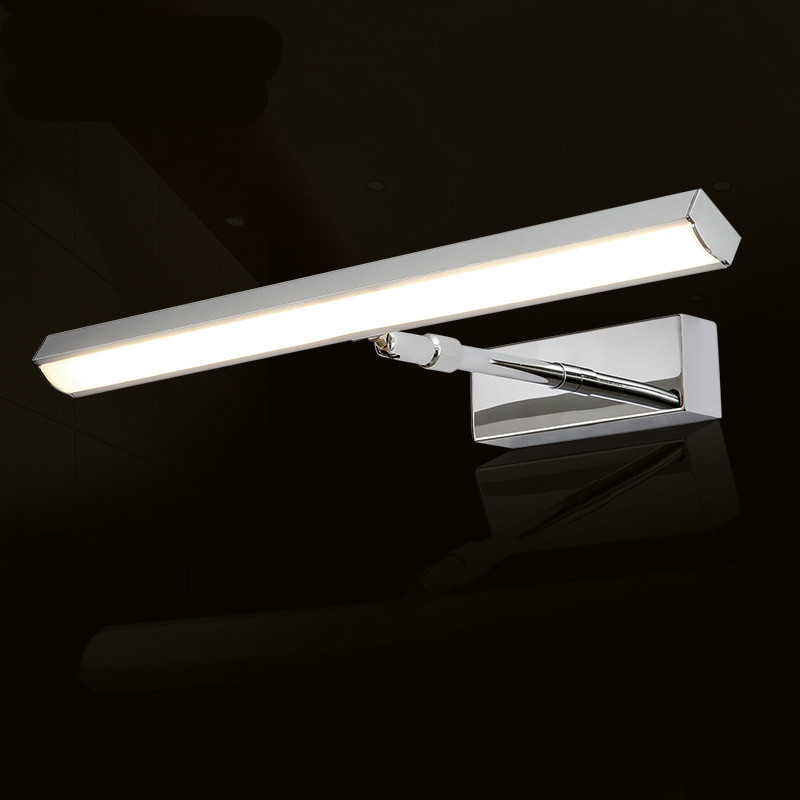 New Modern Simple Durable Bright Flexible Aluminum Acryl Led Mirror Light For Bathroom Waterproof Anti-fog Wall Lamp 1136 modern creative acryl aluminum led mirror lamp for bathroom living room waterproof anti fog 40cm 12w mirror light 2130
