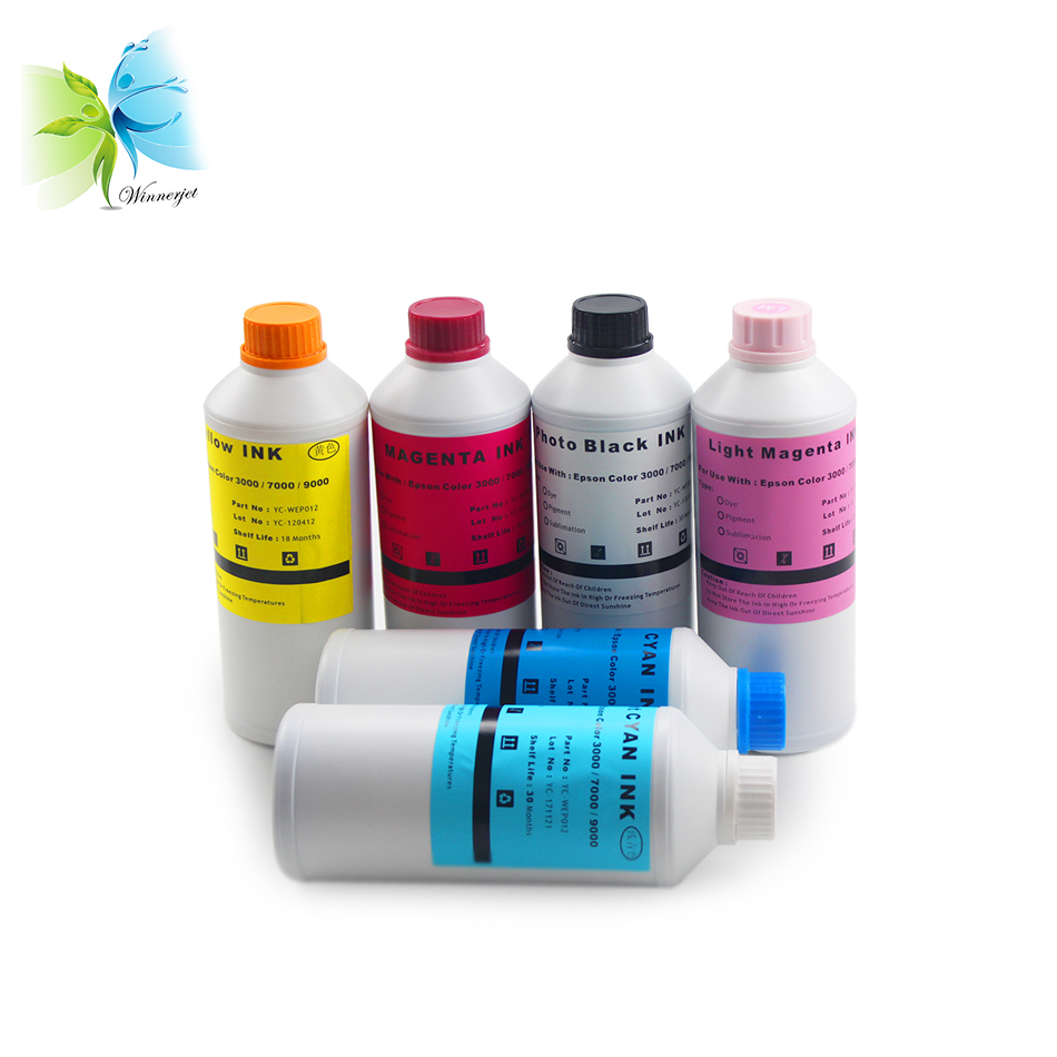 WINNERJET 1000ml Sublimation Ink Kit for Epson Stylus 7500 9500 Printer in Ink Refill Kits from Computer Office