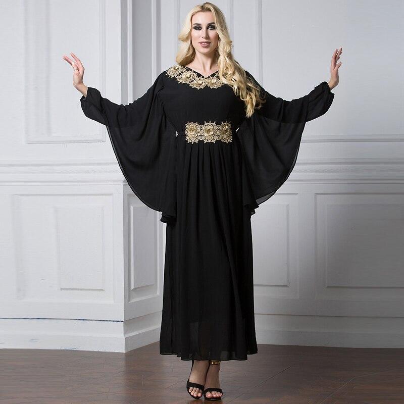 Abayas For Women 2019 Kaftan Abaya Saudi Arabia Chiffon Hijab Muslim Dress Jilbab Robe Dubai Caftan
