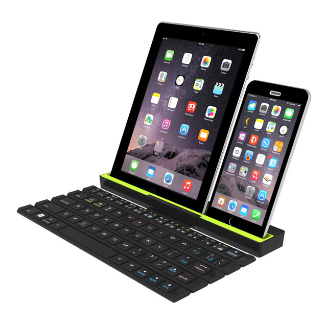 Universal Portable Folding BT Wireless bluetooth Keyboard Rollable Foldable Intelligent Magnetic Switch For Table PC iPad iPhone