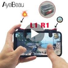 Trigger Pubg Controller Joystick Per Cellulare Cellulare Mobile Del Telefono Android iPhone Gamepad del Rilievo del Gioco L1 R1 L1R1 Joypad Smartphone