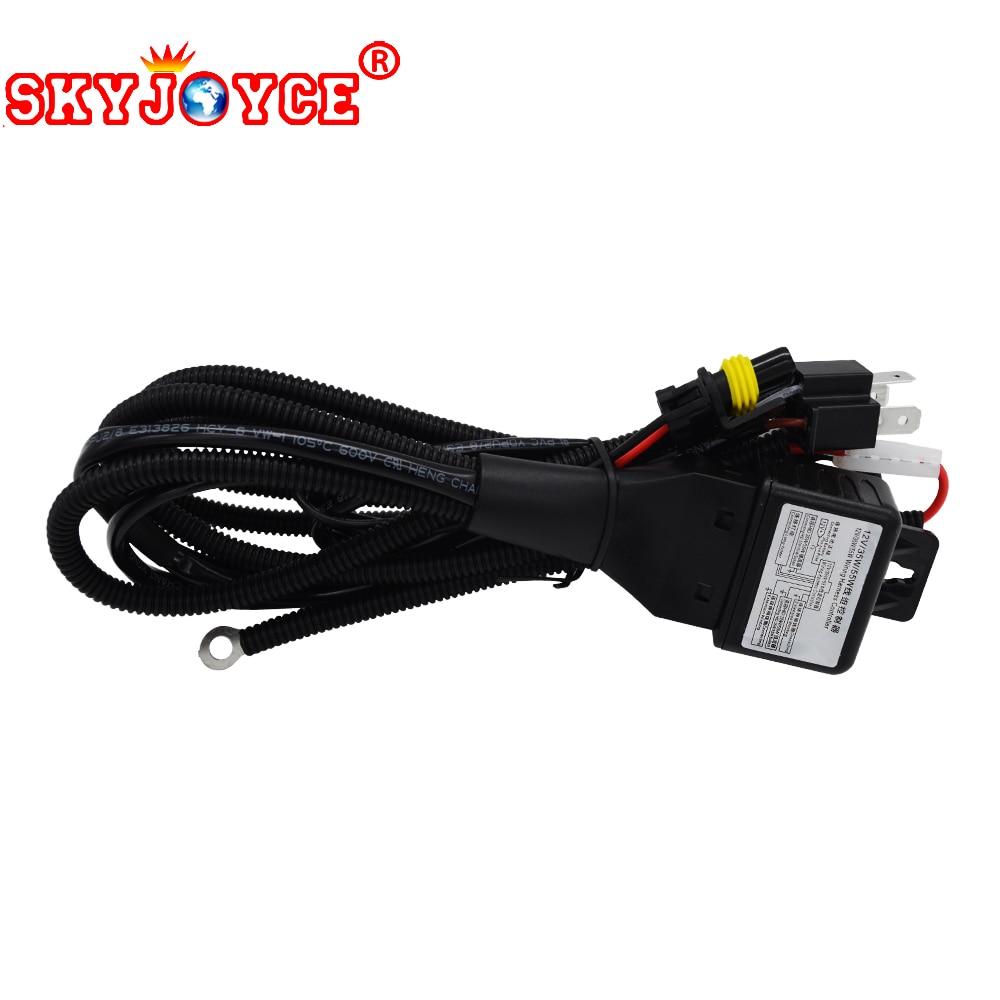Skyjoyce H4 3 Wiring Harness Controller 35w 55w 12v H4 3