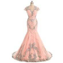 Rosa Prom Vestidos Longos 2017 Alta Pescoço Até O Chão-Formal Especial Ocasião Vestidos Vestido De Festa