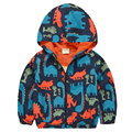 Baby Boys Jackets Coats 2016 Spring Autumn Outwear Trench Hooded Thin Dinosaur Printed Children Clothing Navy Blue 12M-9T GC14