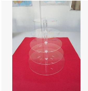 wholesale Customize Pop 5 tier crystal acrylic wedding sweets stand Cupcake Holder