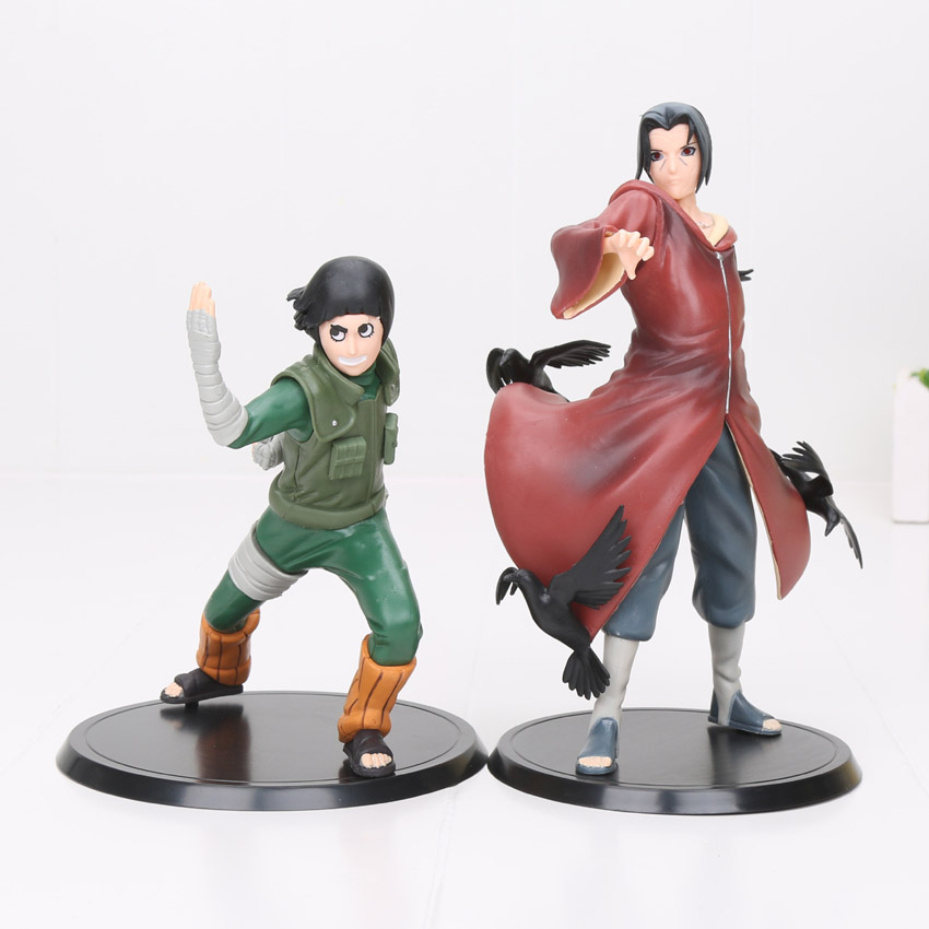 2pcs/set Anime Naruto Akatsuki Uchiha Madara Uchiha Sasuke Action Figures Model Toys