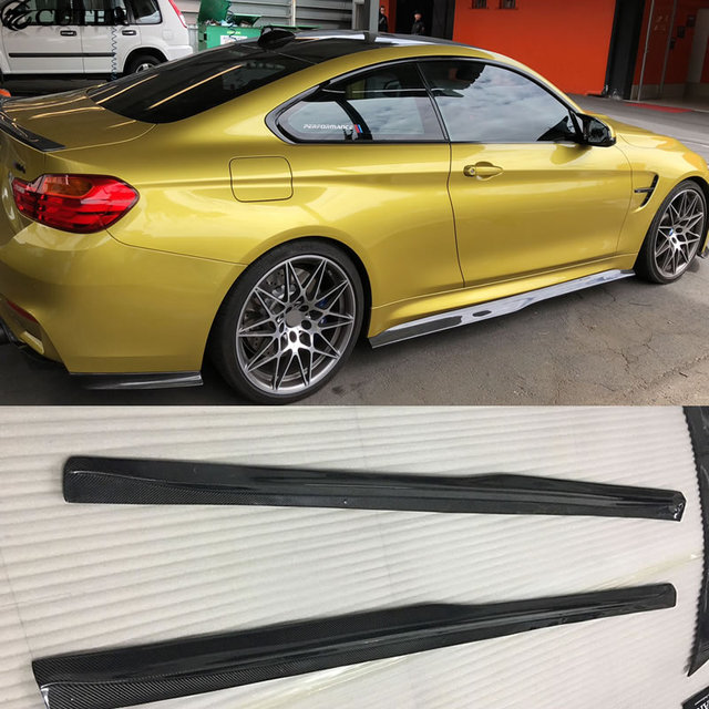 Us 499 99 F80 M3 F82 M4 Carbon Fiber Side Skirts Rear Spoiler Car Body Kit For Bmw F80 M3 F82 M4 Psm Style 15 17 In Bumpers From Automobiles