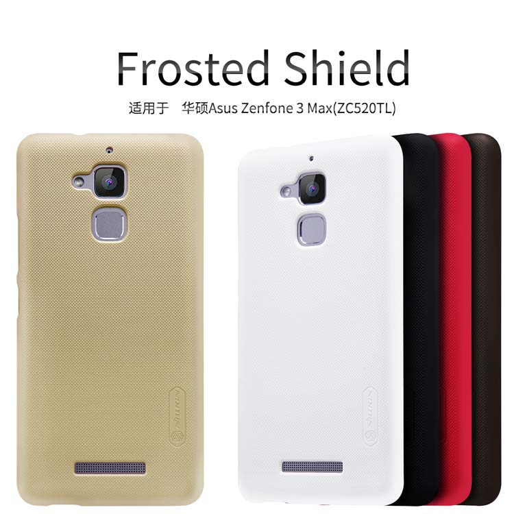For <font><b>Asus</b></font> Zenfone 3 Max ZC520TL Case NILLKIN Super Frosted Shield Hard Back Cover case For <font><b>Asus</b></font> Zenfone 3 Max <font><b>By</b></font> Screen Protector