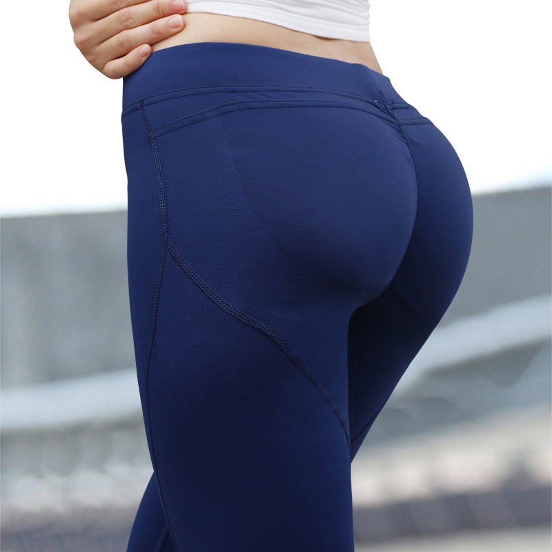 Womens Running Pants Compression Tights Sexy Hips Push Up -3265