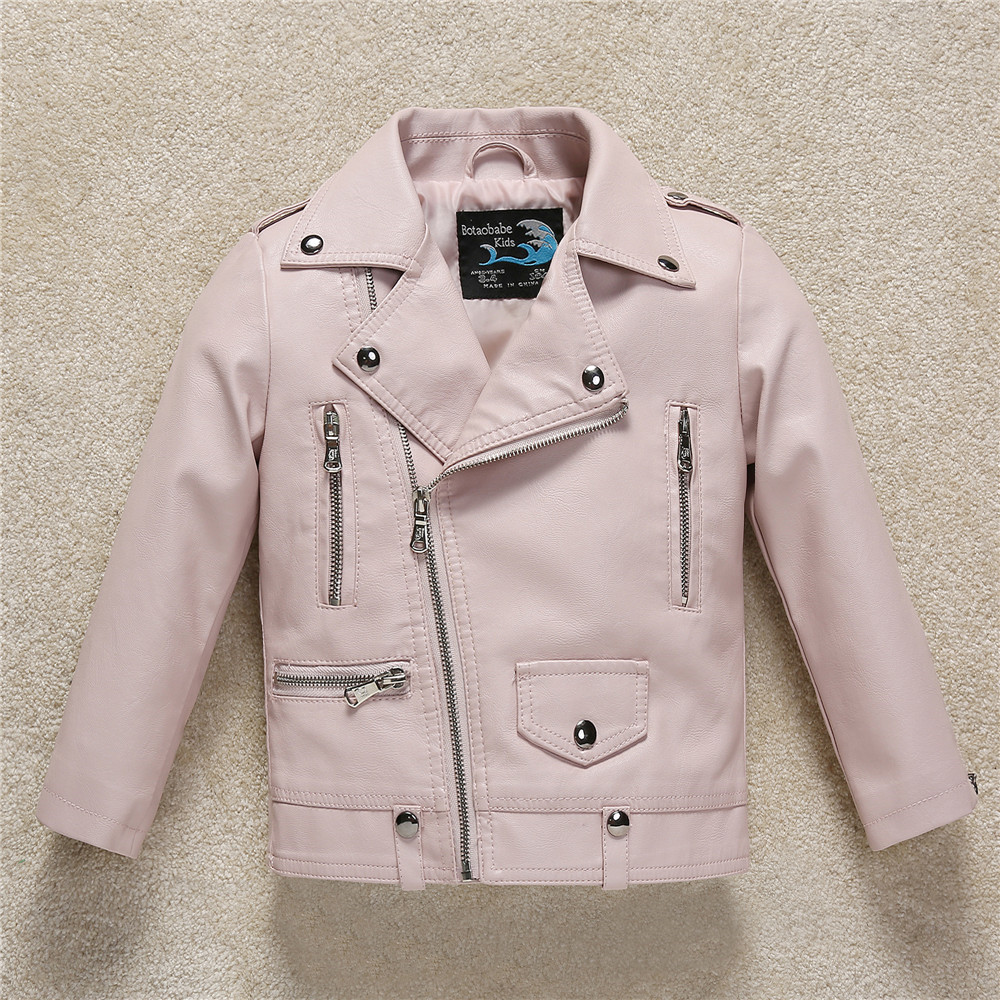 2018 Spring New Fashion Girl Leather Coat Jacket High Quality Children PU Leather Jacket Boys Autumn Jackets Casual Outerwear цены онлайн