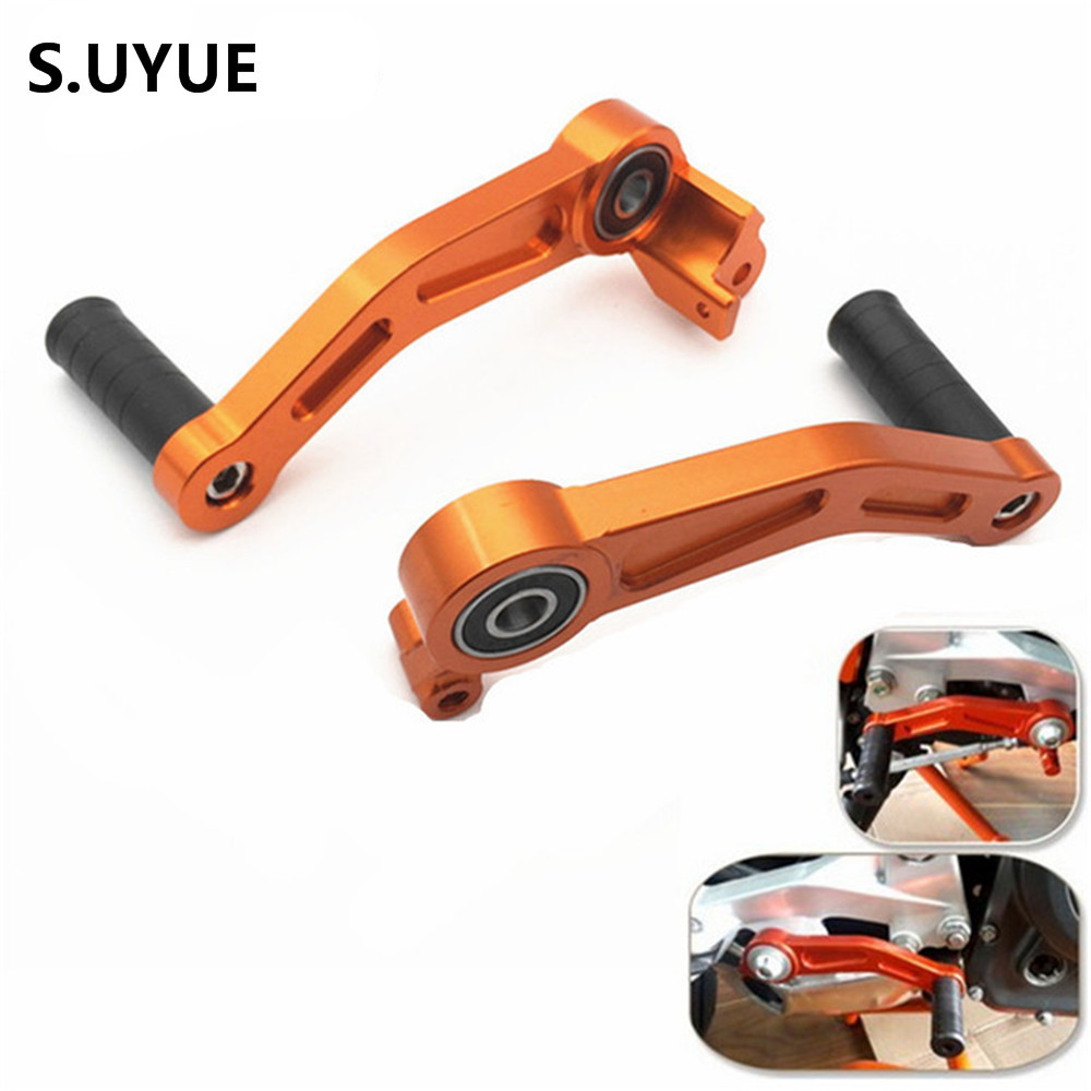 1Pair Orange Motorcycle CNC Alu Brake Clutch Gear Pedal Levers for KTM DUKE 125 200 390 2013-2015 Motorbike Brake Caliper cnc motorcycle billet rear brake pedal step tips pedal for ktm 690 smc supermotor enduro 690 duke 950 990 adv 125 200 390 duke