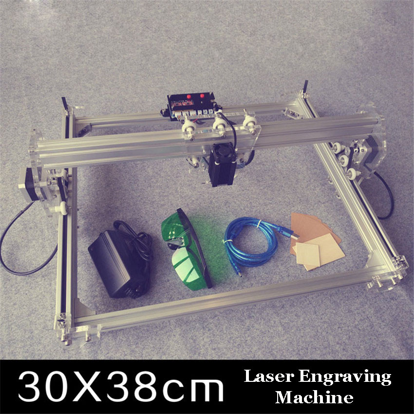 1PC 300MW toy level DIY laser engraving machine Working Area 30X40cm Laser Engraver1PC 300MW toy level DIY laser engraving machine Working Area 30X40cm Laser Engraver