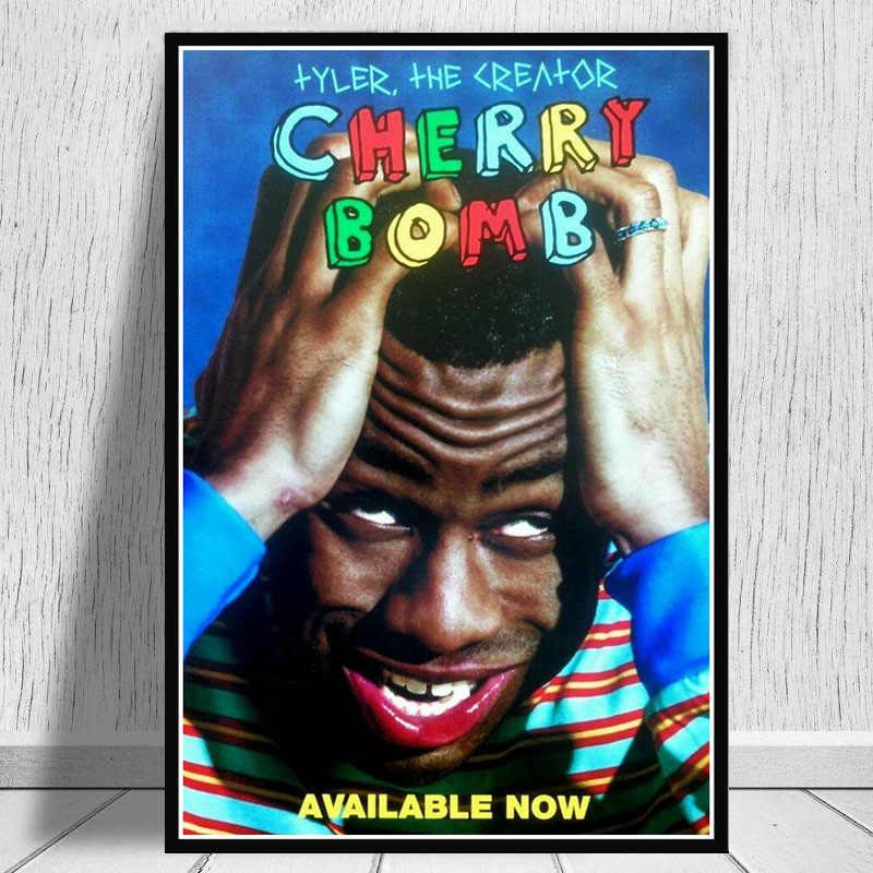 Poster Cetakan Tyler Pencipta Bunga Anak Igor Rap Musik Album Bintang Seni Kanvas Lukisan Dinding Gambar Ruang Keluarga Rumah dekorasi