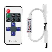 1 Pc Mini RF Wireless Led Remote Controller Led Dimmer Controller Untuk Warna Tunggal Strip Cahaya SMD5050/3528/5730/5630/3014(China)
