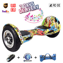 2 Wheel Self Balance Scooters 10 inch Bluetooth Balancing Electric Scooter Hoverboard with Remote Control Skateboard Drift Board