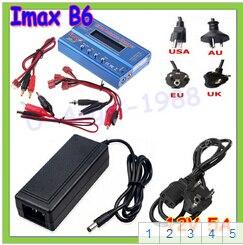 IMAX B6 80 Вт 6A зарядное устройство Lipo NiMh Li-Ion Ni-Cd цифровой RC Баланс Зарядное устройство Dis зарядное устройство+ 12 В 5A адаптер - Цвет: T plug