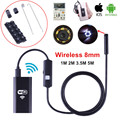HD 8mm Lente WIFI Endoscopio Cámara 5 M 3.5 M 2 M 1 M serpiente Boroscopio USB IOS Android Tablet Cámara Del Animascopio Sin Hilos Para iphone