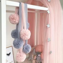 Украшение для детской комнаты, шар гирлянды, гирлянда для свадьбы или вечерние, детская комната, москитная сетка, аксессуары для кроваток