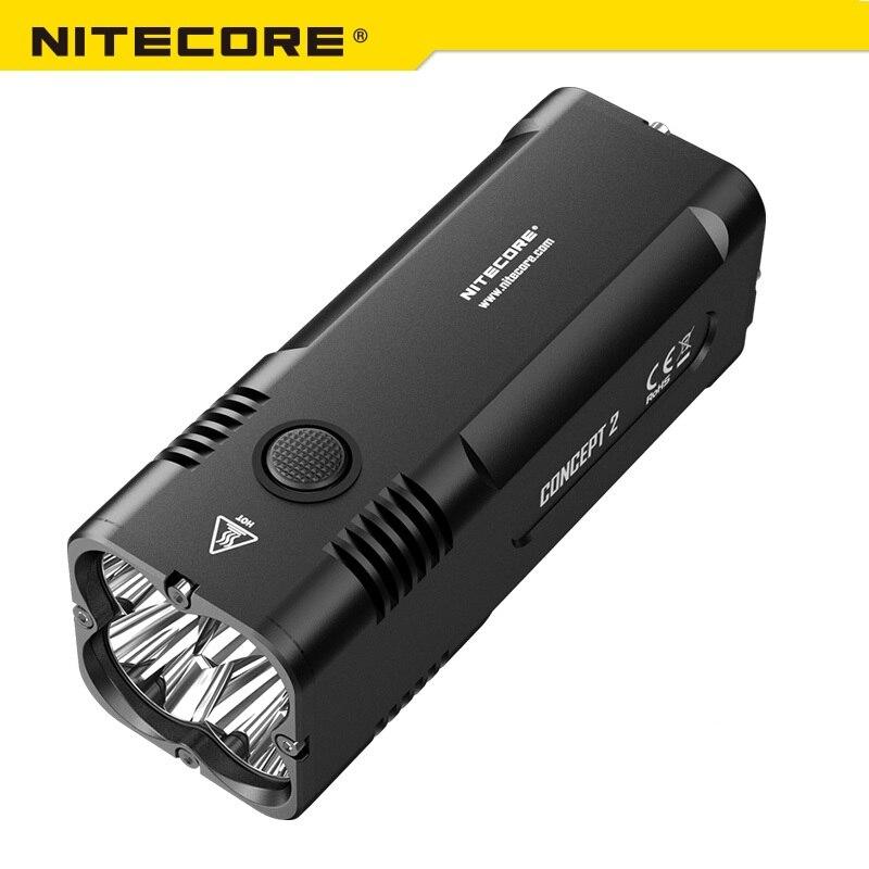 2018 новый NITECORE C2 светодиодный фонарик 6500 люмен 4 х CREE XHP35 HD Перезаряжаемые Открытый Отдых поиск по 18650 Батарея