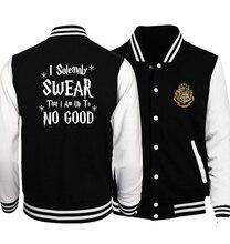 I Solemnly Swear That I Am Up To No Good Print Jackets Men 2018 Hot Sale Sweatshirt Men's Sportswear Jackets Harajuku Hip Hop