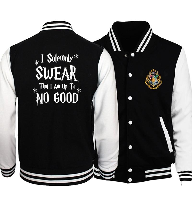 I Solemnly Swear That I Am Up To No Good Print Jackets Men 2019 Hot Sale Sweatshirt Men's Sportswear Jackets Harajuku Hip Hop