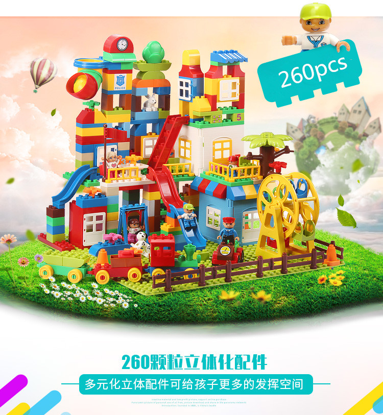 DIY Building Blocks 260pcs Creative Bricks Toys for Children Educational Compatible Bricks with brinquedos juguetes
