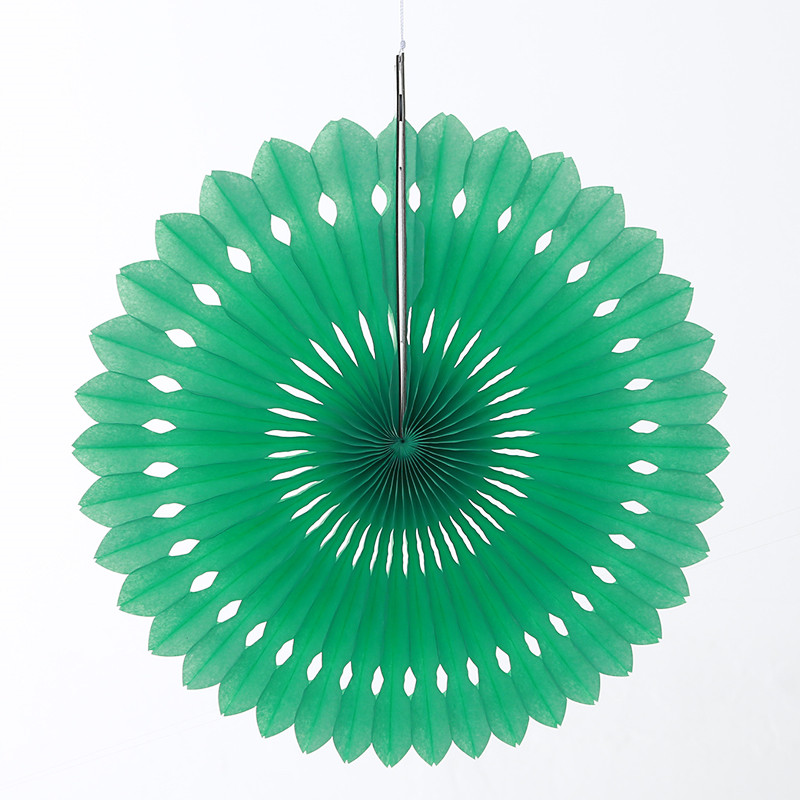 10inch=25cm Foldable Mint Green Eyelet Tissue Paper Fans Hanging Pinwheel Party Decorations Wedding Baby Shower Backdrop Favors