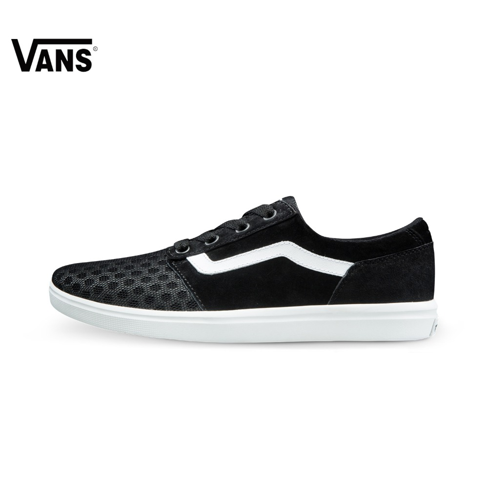 Original Vans New Arrival Summer Black and White Color Light-Weight Low-Top Men's Skateboarding Shoes Sport Shoes Sneakers