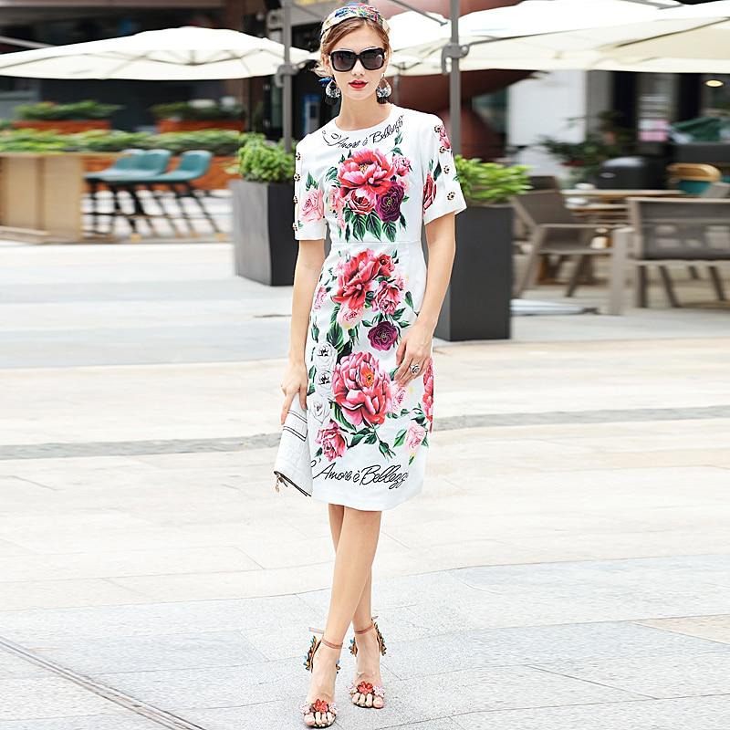 긴 드레스 고품질 여름 새로운 여성 패션 파티 달콤한 boho 비치 휴가 빈티지 우아한 세련된 인쇄 연필 드레스-에서드레스부터 여성 의류 의  그룹 1