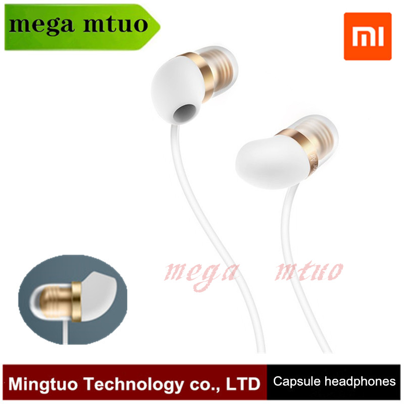 Original Xiaomi Capsule Earphone Silicone Earbuds 45 degree In Ear Angle Hand Free with Micropone 3