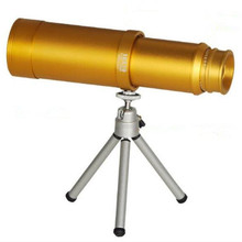 Telescope 10x50 High Power Metal Monocular Big Lens Professional Optical Teleskop Monoculo Light Night Vision Hunting Tools