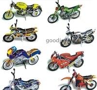 3D Puzzle Motorcycle Models Set 8 Pcs DIY Models Home Adornment Paper Craft
